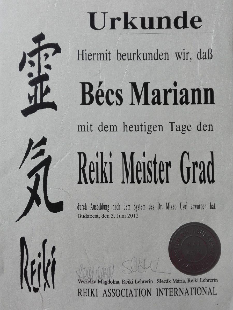 Reiki Mester képzés